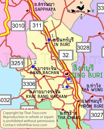 Map of Singburi