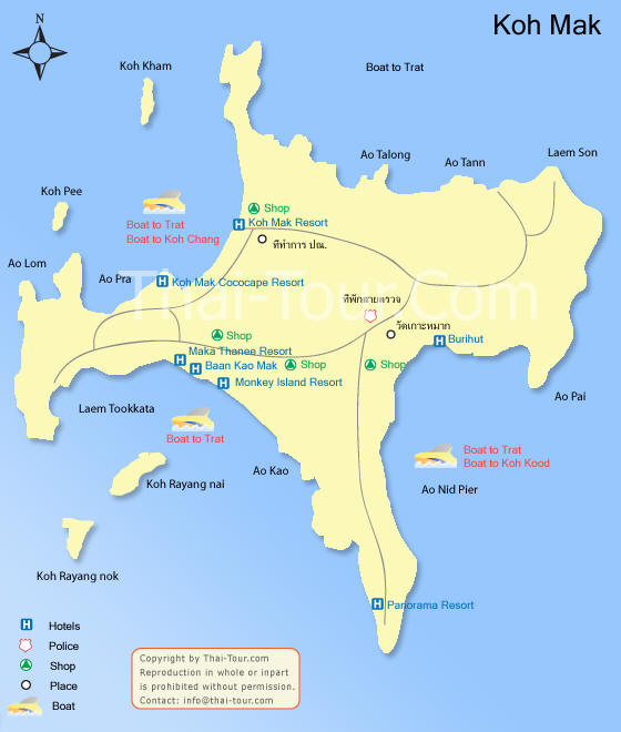 Koh Mak (Trad) Thailand  city images : ... Thailand Map Trad Map Koh Chang Map Bangkok Map