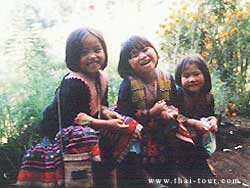 Meo Tribes; smiling children